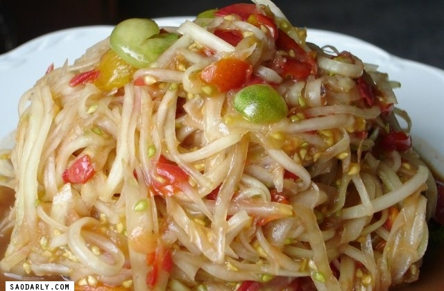 Lao Green Papaya Salad Recipe