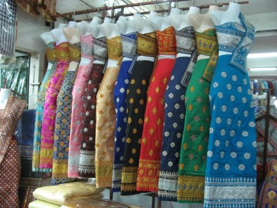 Lao traditional skirt order online quotes for Laos wedding dress for sale