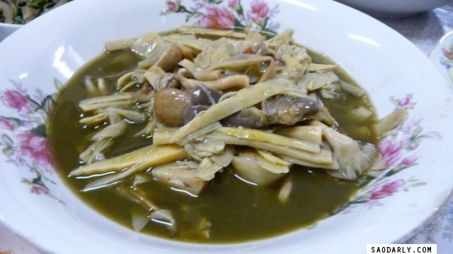 First Dinner in Laos - Lao Bamboo Shoot Soup