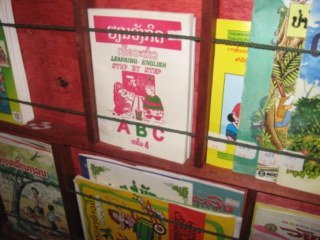 Lao Book Box Library at Akat Elementary School