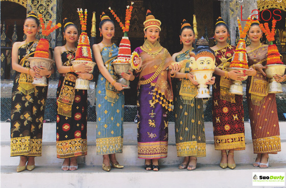 Miss Lao New Year Luang Prabang Postcard