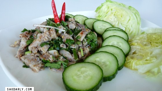 Lao Food - Spicy Herring Salad