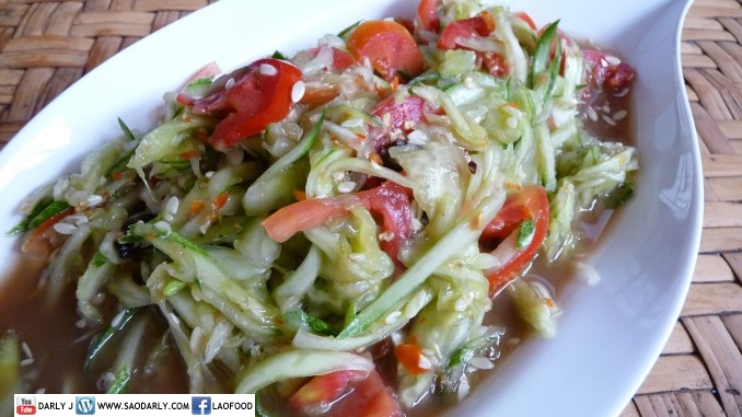 Lao Food - Cucumber Salad