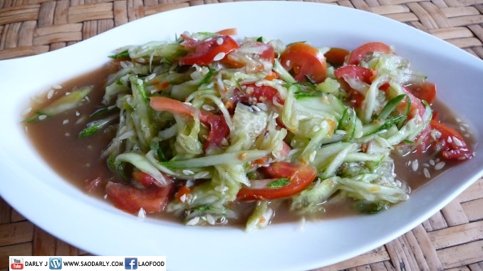 Lao Spicy Cucumber Salad and Edible Chrysanthemum