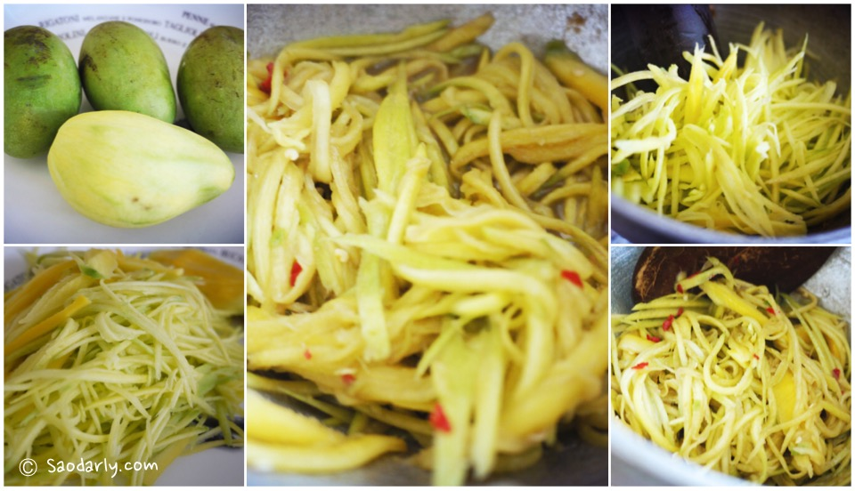 Green Mango Salad for dinner