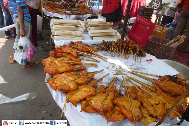 Food at Vientiane Boat Race