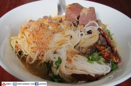 Khao Poon Nam Phik with Fish