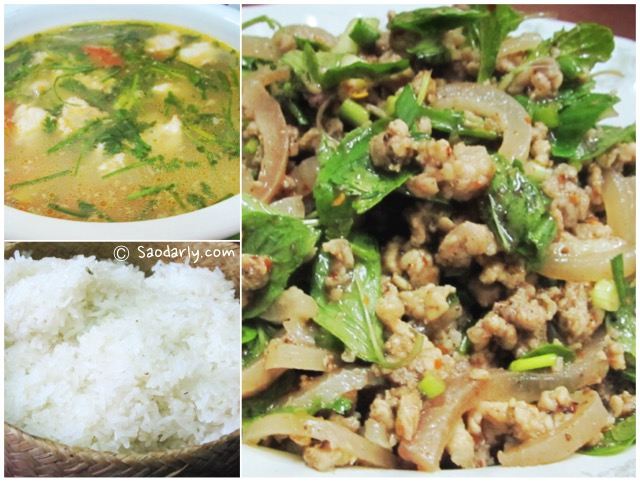 Larb Moo and Kaeng Moo