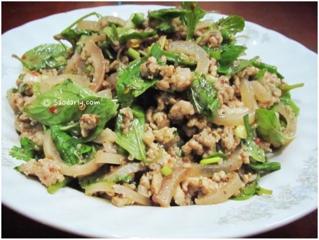 minced pork salad