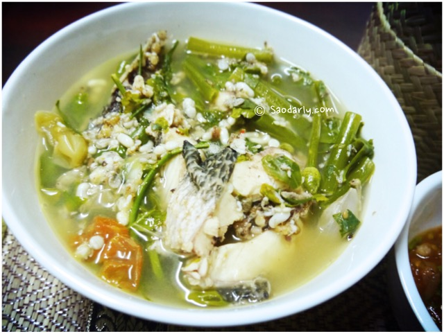 fish and ant egg soup