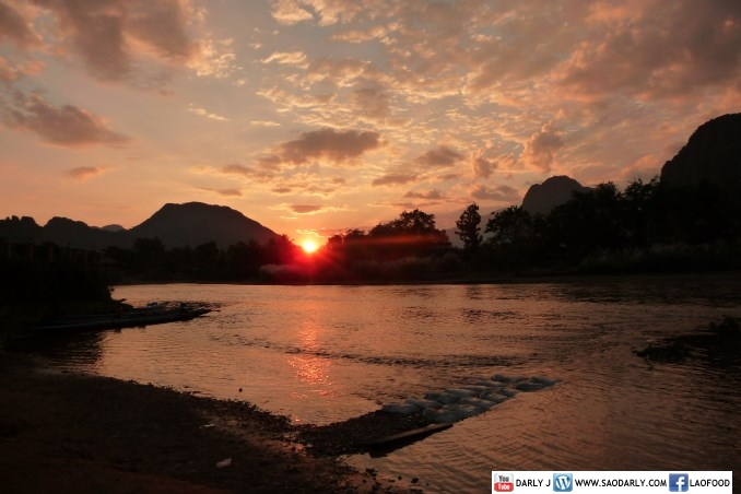 Sunset in Vang Vieng Laos