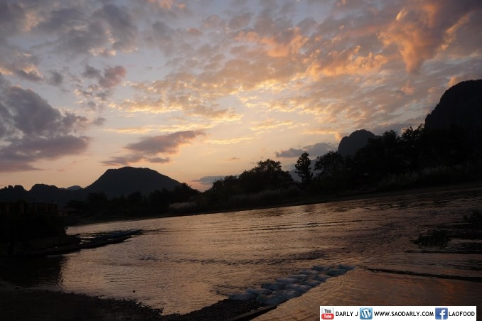 Sunset at Nam Song River