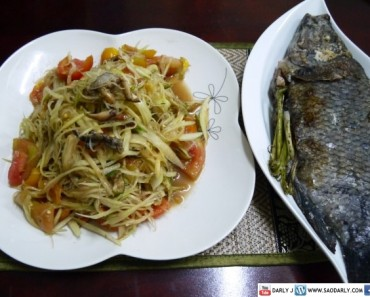 Papaya Salad and Grilled Fish