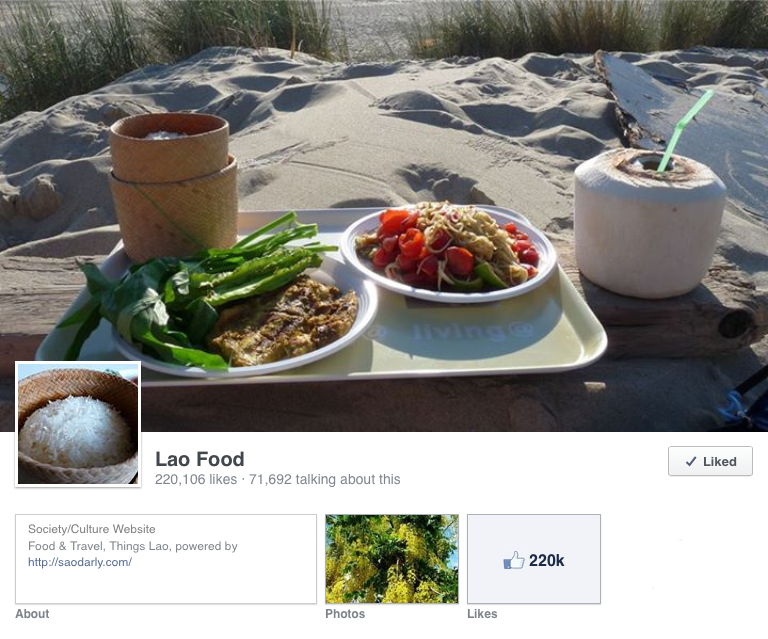 Lao Food Facebook page unpublished for unknown reasons