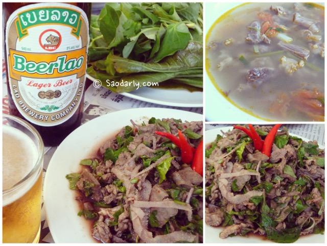 Larb Sien and BeerLao