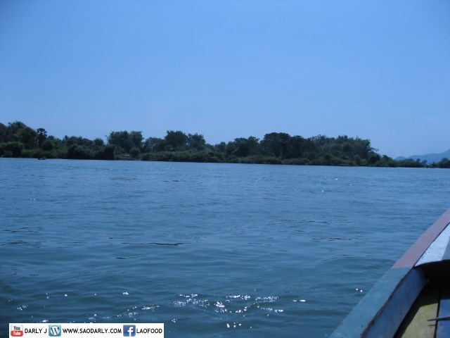 Boat to Don Det Island