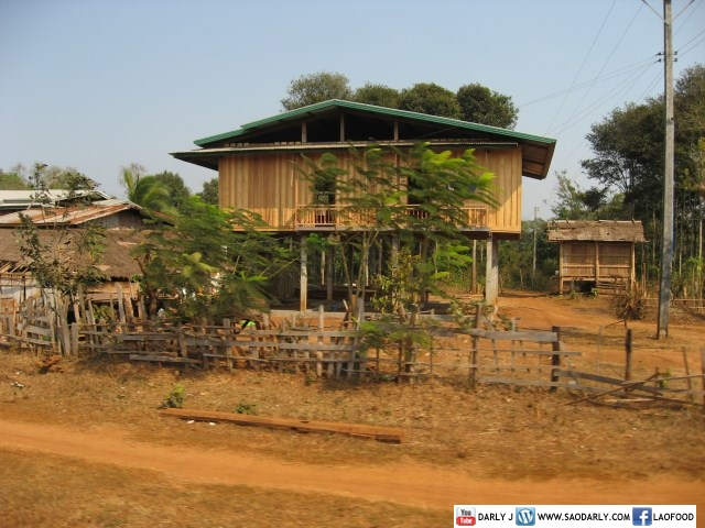 House in rural south of Laos