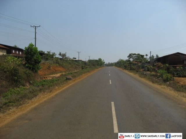 Road in Champasak Laos