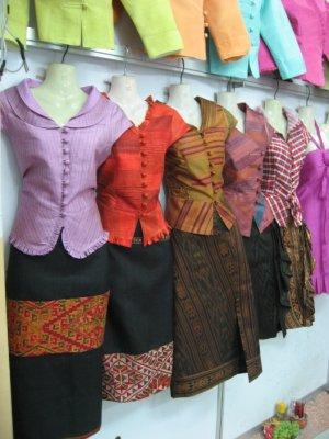 Lao clothes at Lao-ITECC