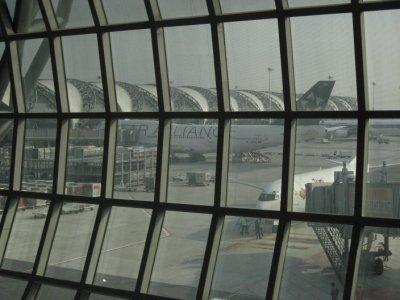 Suvarnabhumi Airport, Lufthansa airplane
