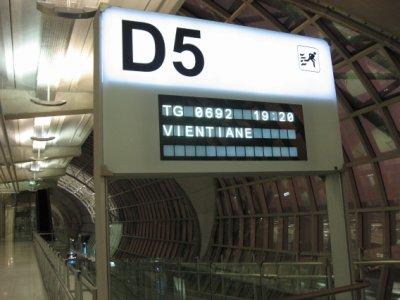 Suvarnabhumi Airport , gate to Vientiane Laos