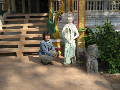 DJ at Wat in Dongyang, Champassak