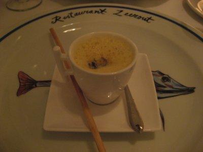 Pumpkin Soup with Dutch shrimps