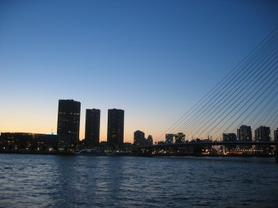 a view of Rotterdam city