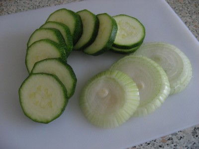 zucchini and sweet onion