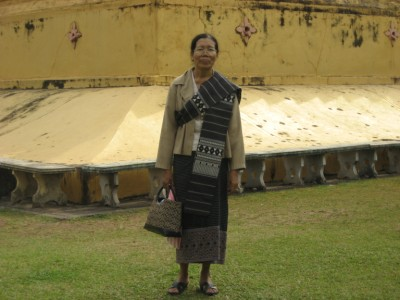 Aunt Kian at Wat That Luang