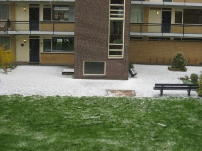 hailstorms in the Netherlands