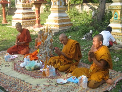 Buddhist ceremony for Grand Papa