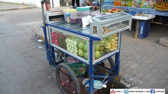 Fruit Cart Vientiane Laos