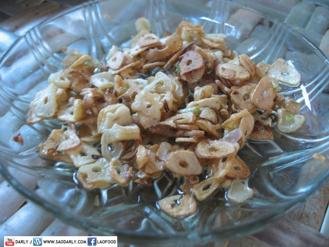 fried garlic for Rice Stick Noodle Soup