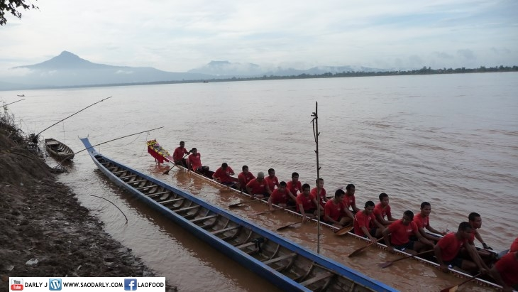 Pakse Boat Race Training