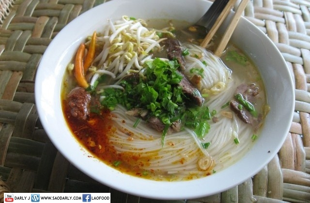 Rice Stick Noodle Soup for Lunch
