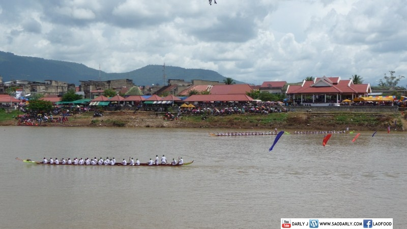 Boat Race in Pakse, Laos