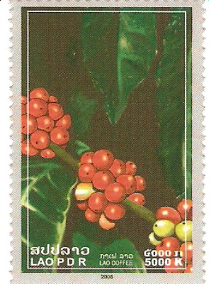 2008 Lao Coffee Stamps
