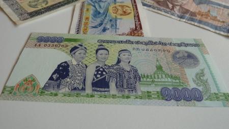 Lao banknotes