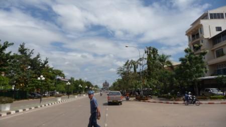 Lan Xang Avenue in Vientiane, Laos