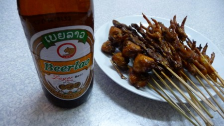 Beer Lao and Ping Kai