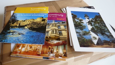 Lao stamps package
