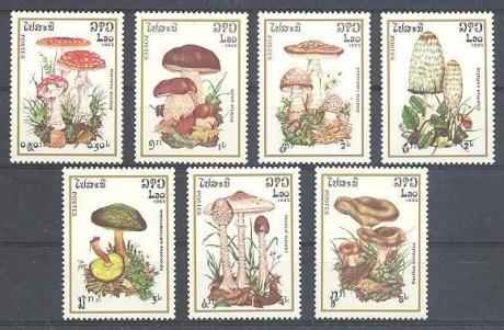 Mushroom Lao Stamp 1985