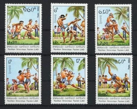Muay Lao Stamp