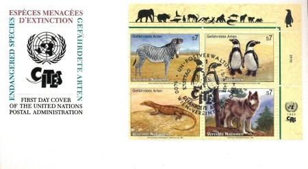 UN Vienna FDC – Endangered Species