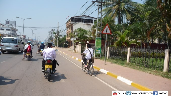 Traffic in Vientiane, Laos