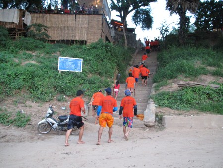 The End of Luang Prabang Boat Race
