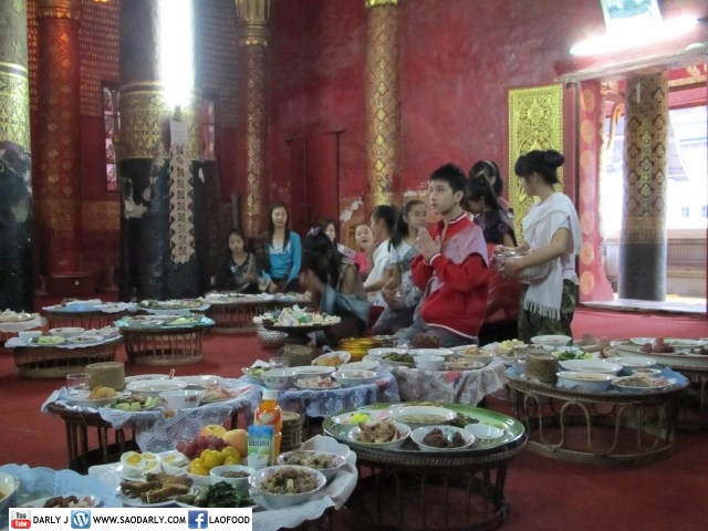 Alms Offering at Wat Mai
