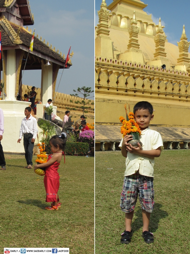Family Day at That Luang Wax Castle Parade