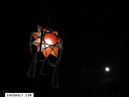 Glowing lights of Wat Mai